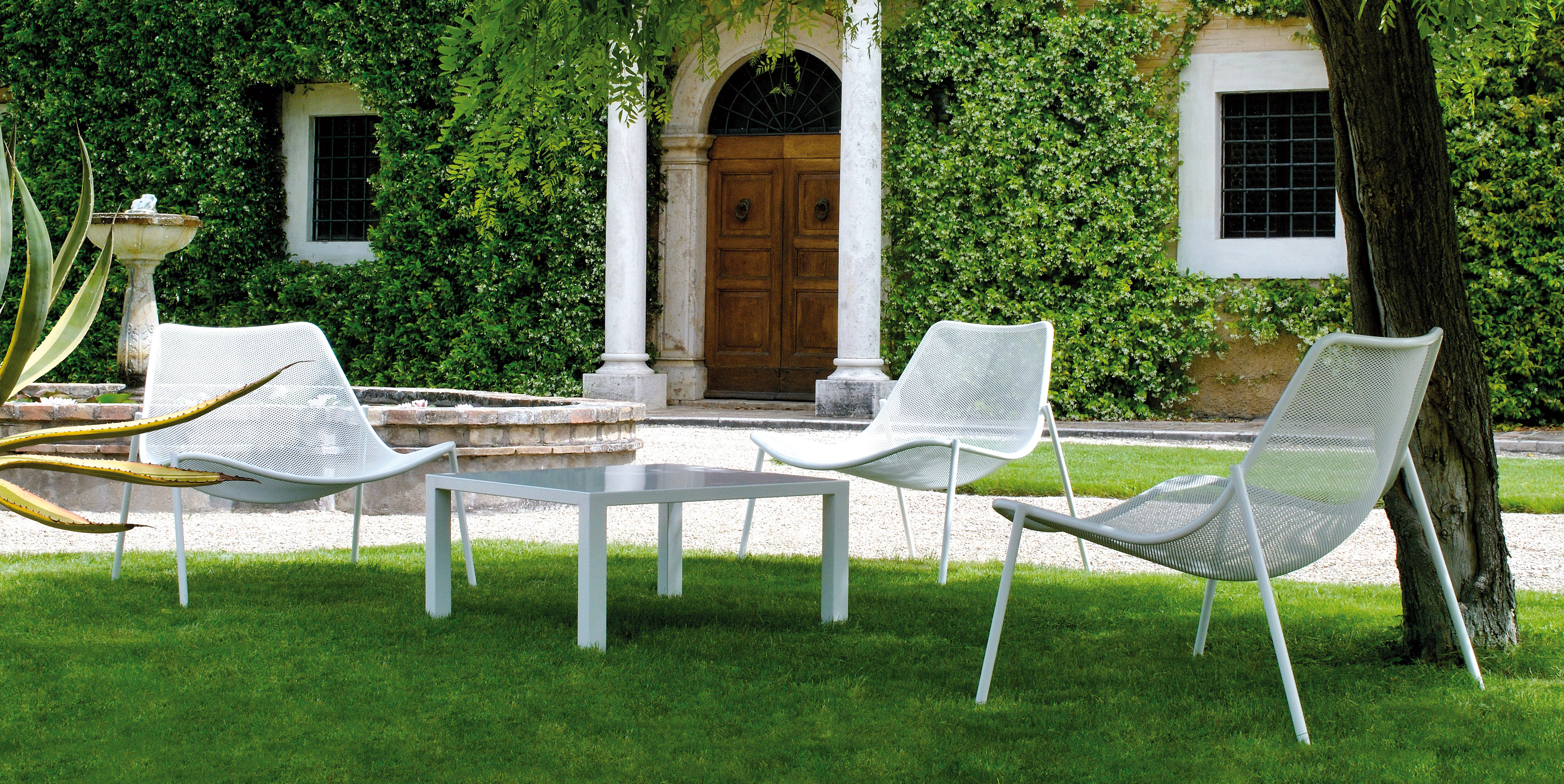 Fauteuil chauffeuse round buxus design