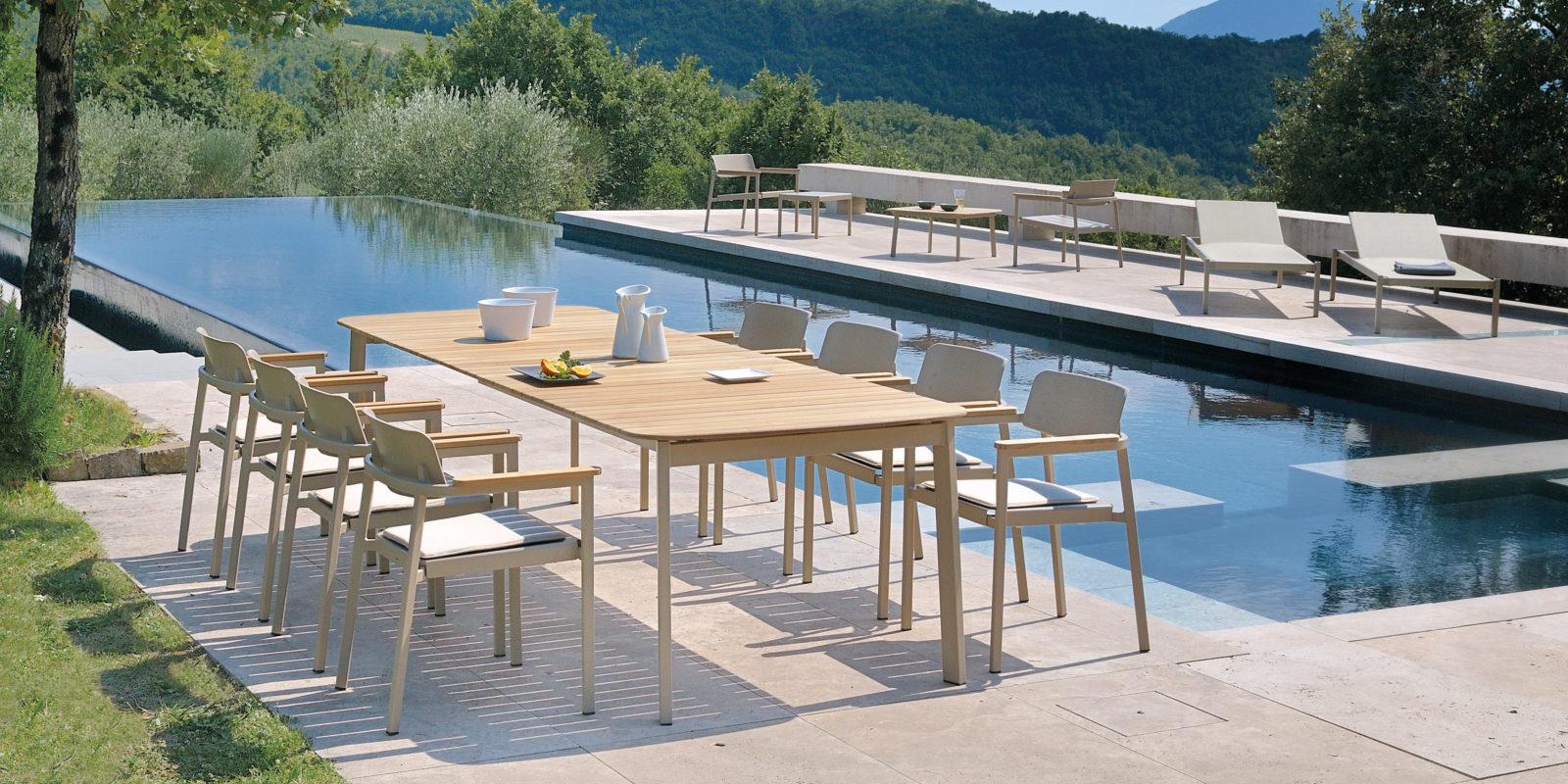table de jardin design buxus