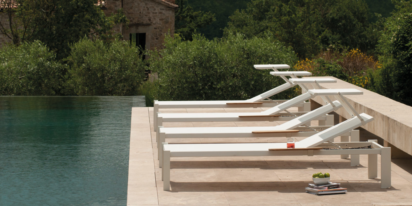 Bain de soleil design buxus