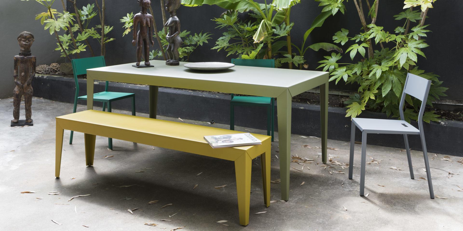 Matière grise ZEF table de jardin BUXUS Bordeaux