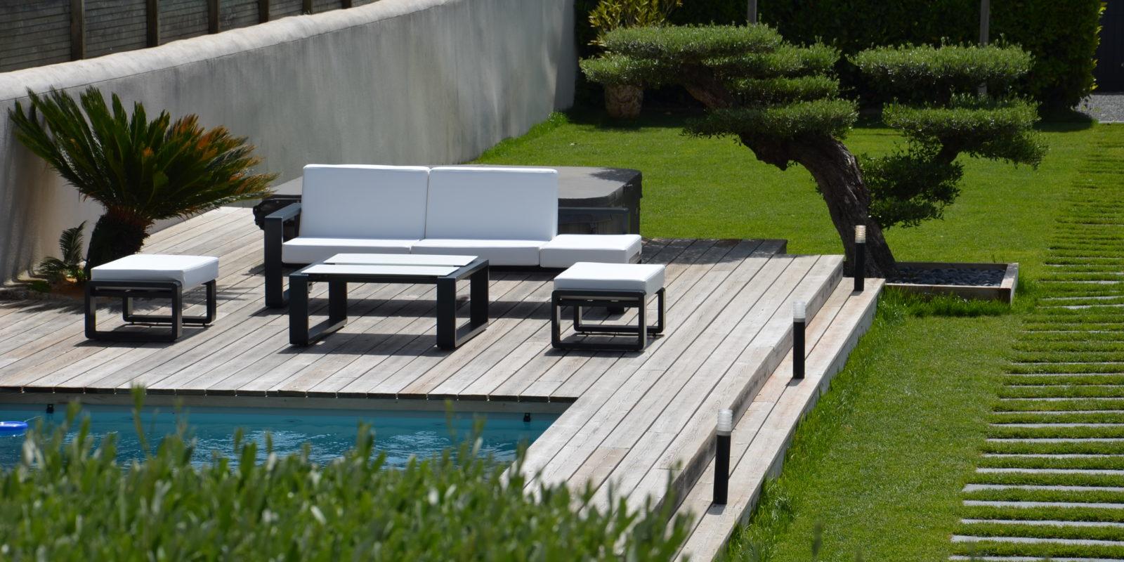 Mobilier jardin contemporain BUXUS