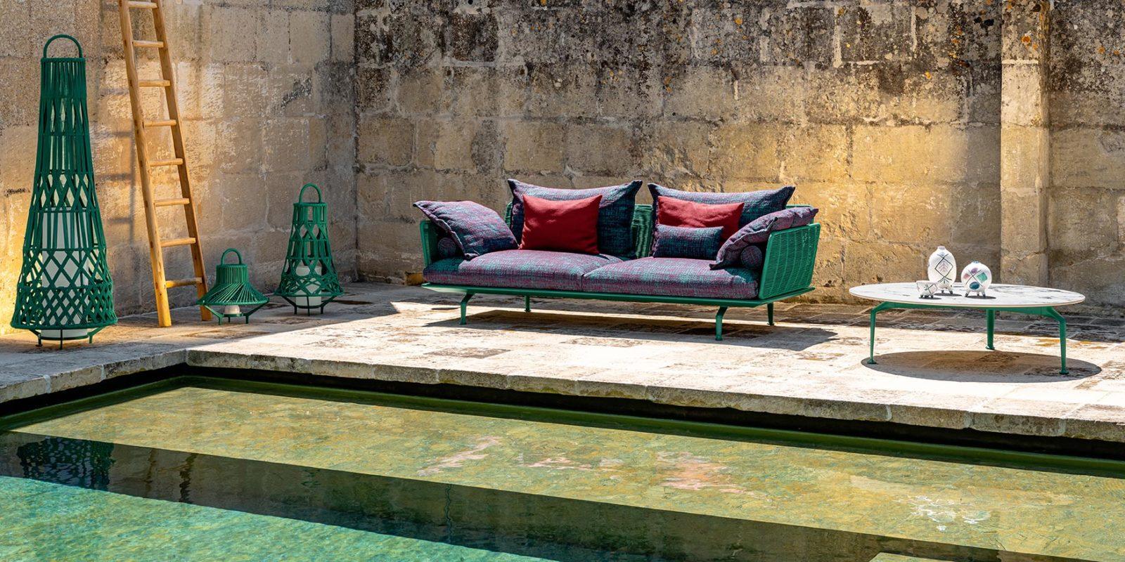 Canapé trois places CRUISE - TALENTI - BUXUS